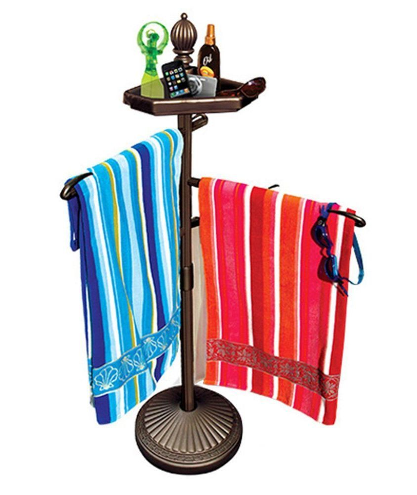 Spa Pool Towel Holder Rack Free Standing Hot Tub Accessories Storage  Outdoor NEW