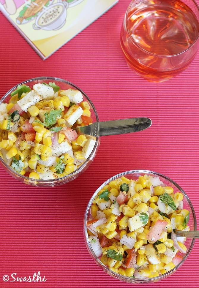 Corn chaat Recipe Healthy indian snacks, Indian snacks