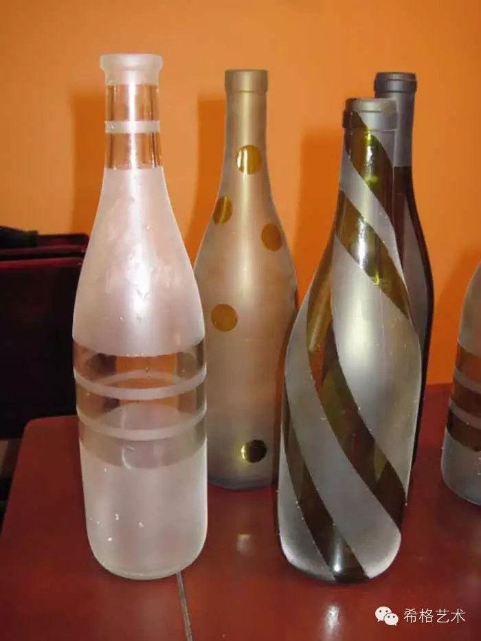 Garrafas e for Spray painting wine glasses
