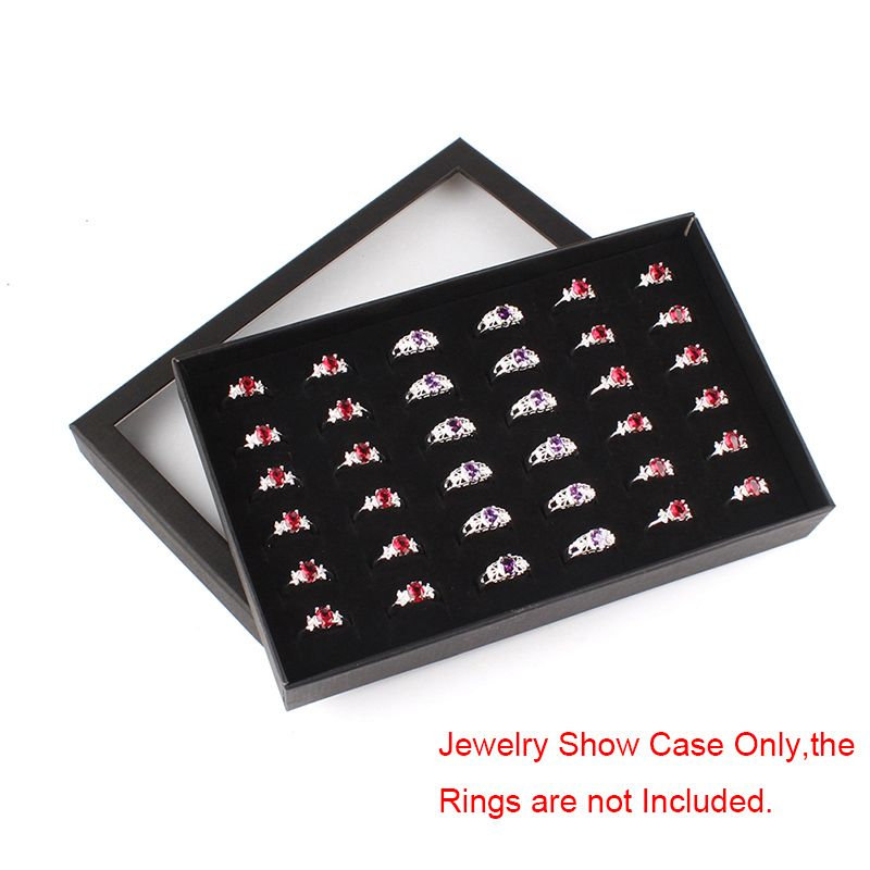 3 29 New 36 Slots Ring Storage Ear Display Box Jewelry Organizer Holder Show Case Afflink Slots Ri Ring Storage Earring Jewelry Box Jewelry Organizer Box