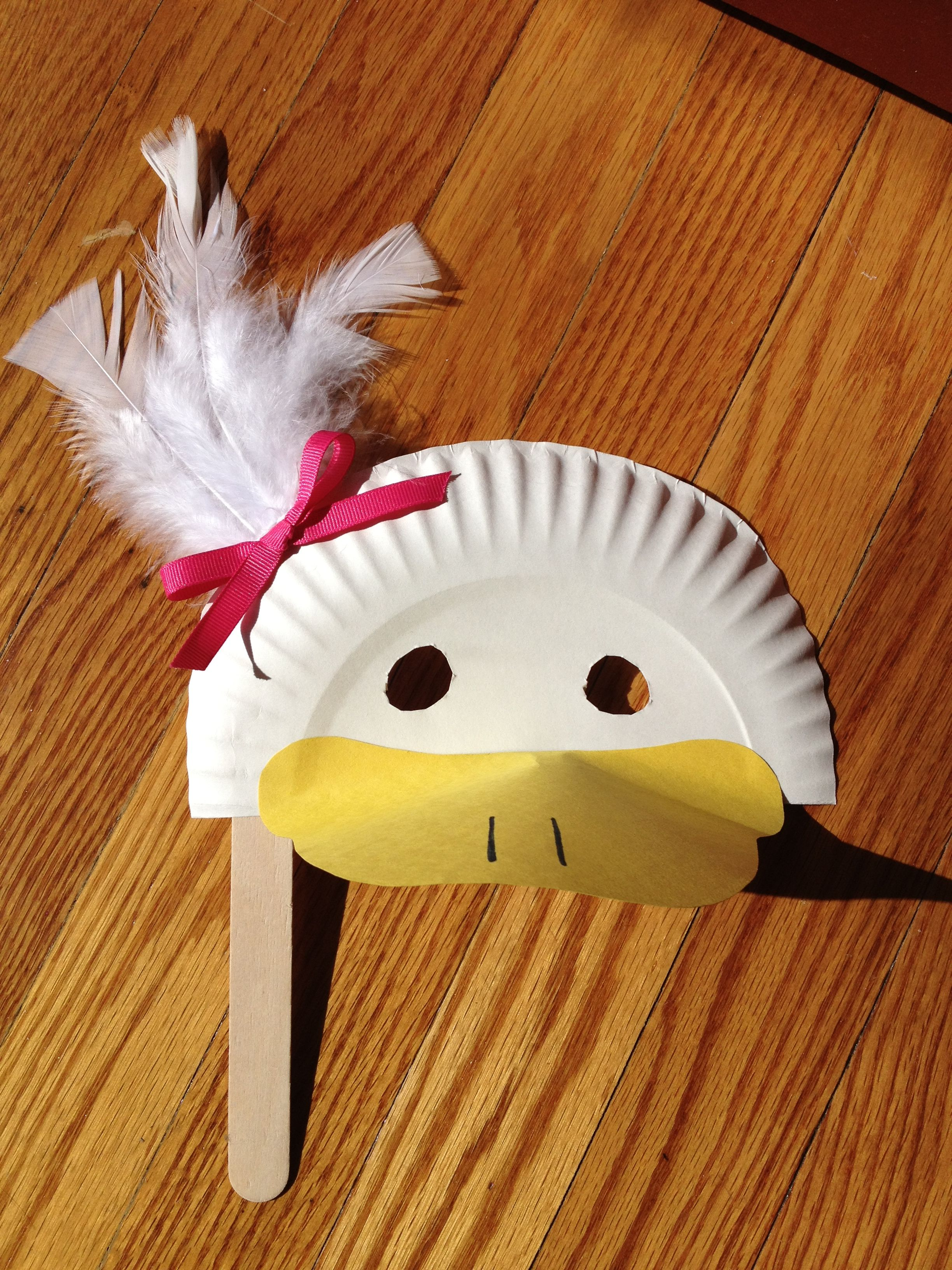 Photo 3 7 Duck Mask Duck Crafts Paper Plate Masks