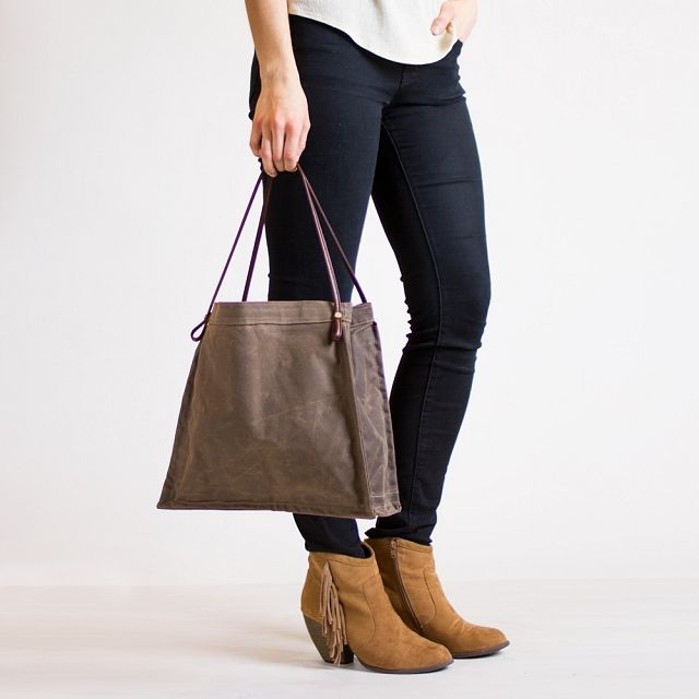 Waxed Canvas Farmer's Market Tote from k colette