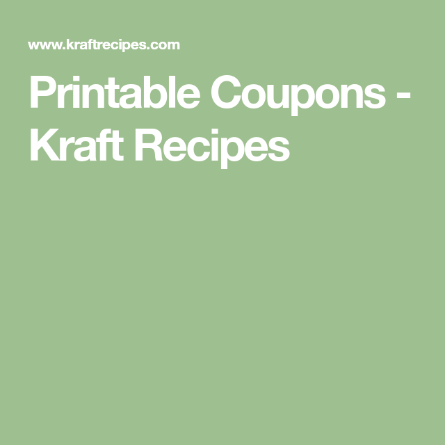 photo relating to Kraft Coupons Printable known as Printable Discount codes - Kraft Recipes discount codes Pinterest