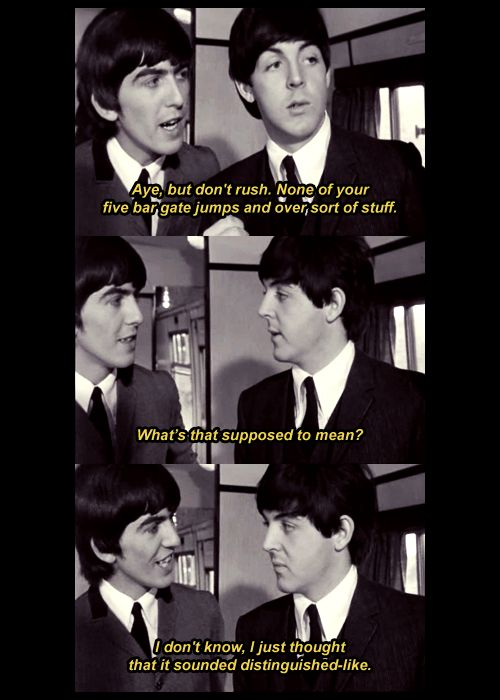 in A Hard Day's Night The beatles, Beatles funny