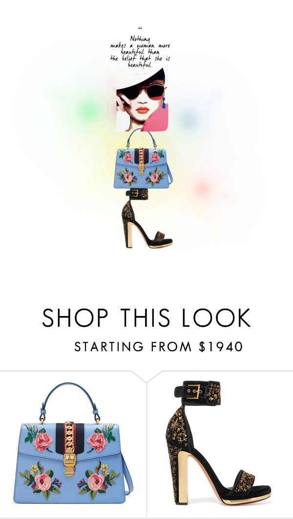 """""""Bag Lady"""" by successisbella ❤ liked on Polyvore featuring Gucci, Alexander McQueen and Kenneth Jay Lane"""