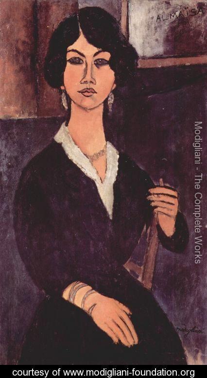 Seated Algerian Almaiisa - Amedeo Modigliani - www.modigliani-foundation.org