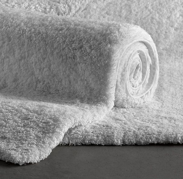Restoration Hardware Plush Pile Bath Rug Random Home Pinterest - White plush bathroom rugs for bathroom decorating ideas
