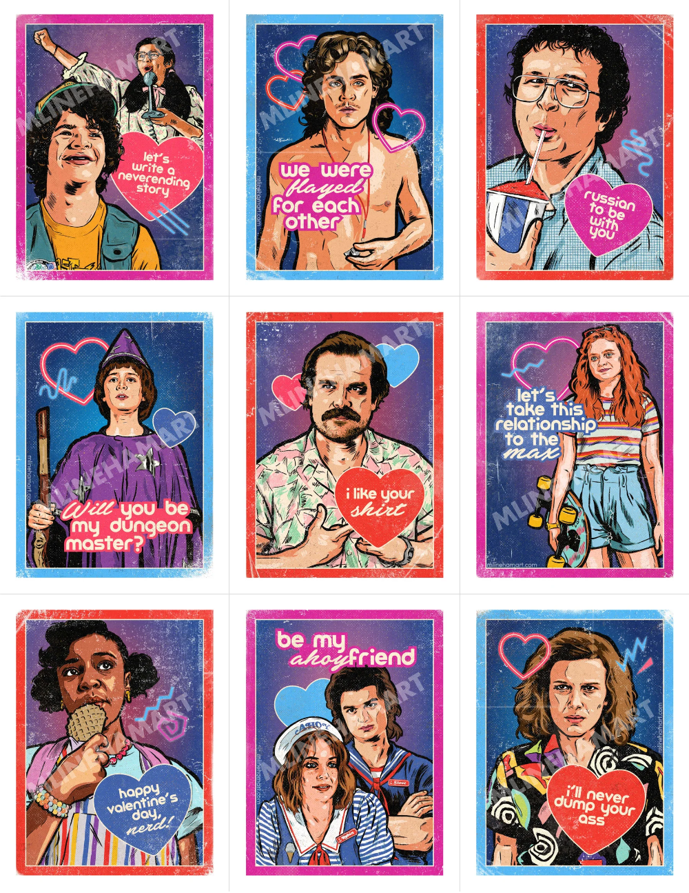 Stranger Things 3 Valentine S Day Card Pack 2020 Stranger Things Kids Stranger Things Poster Stranger Things Funny