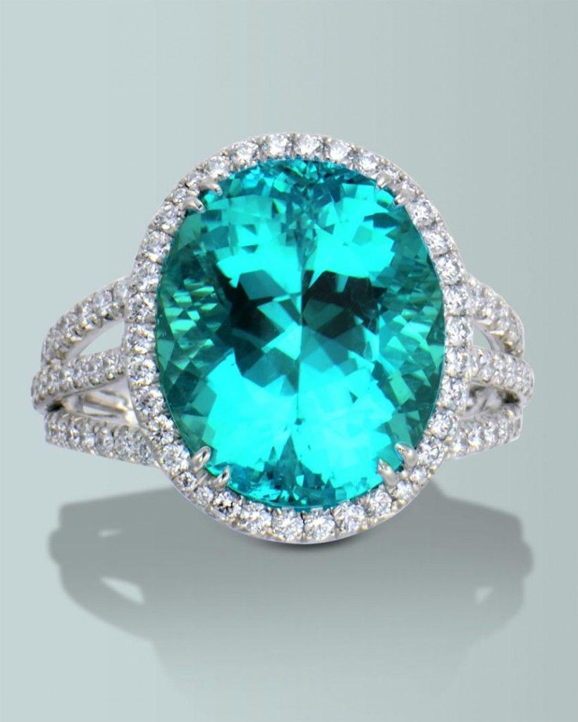 Spectacular paraiba tourmaline engagement rings fine gemstones