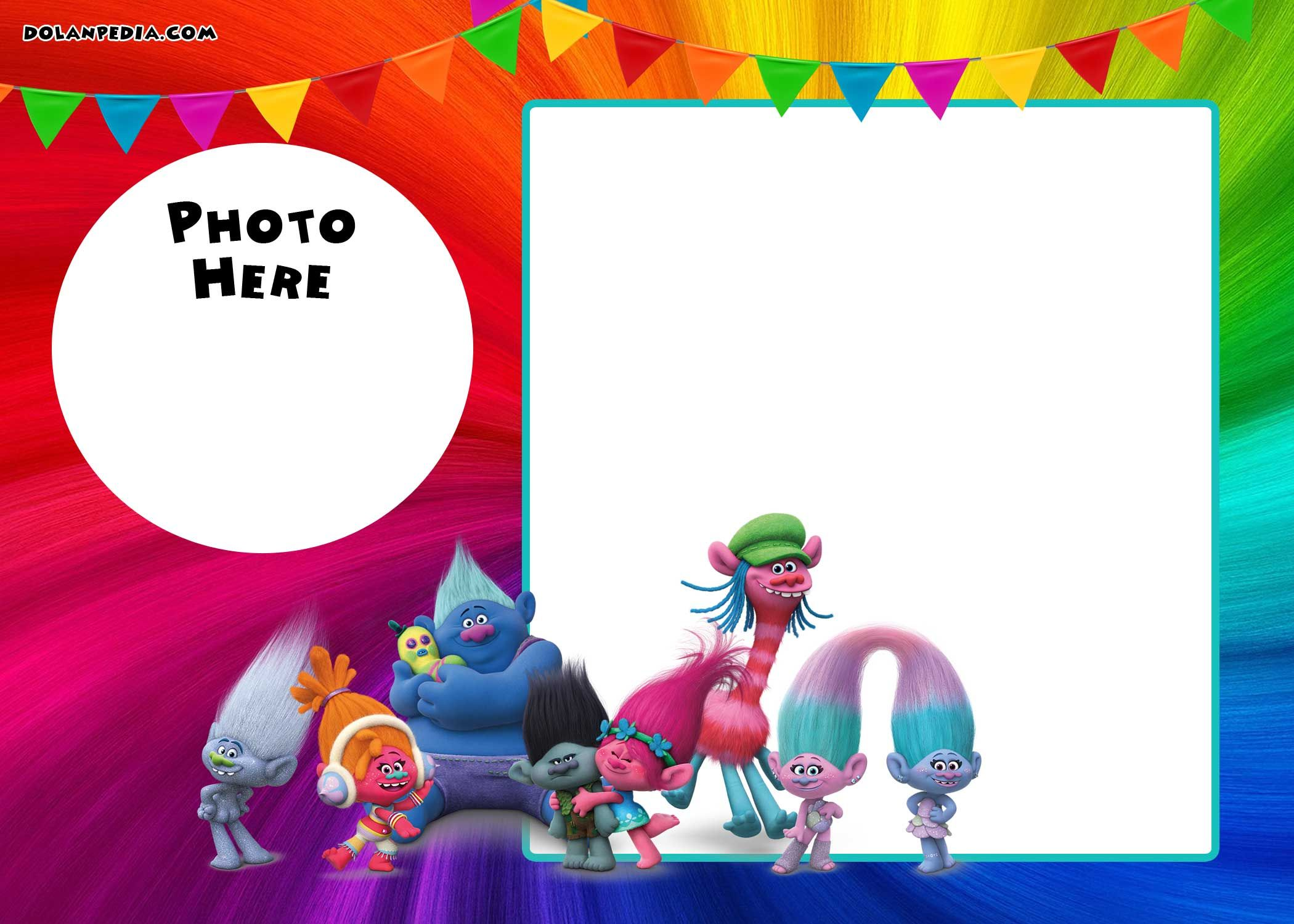 Free Printable Trolls Invitation Template Drevio Invitations