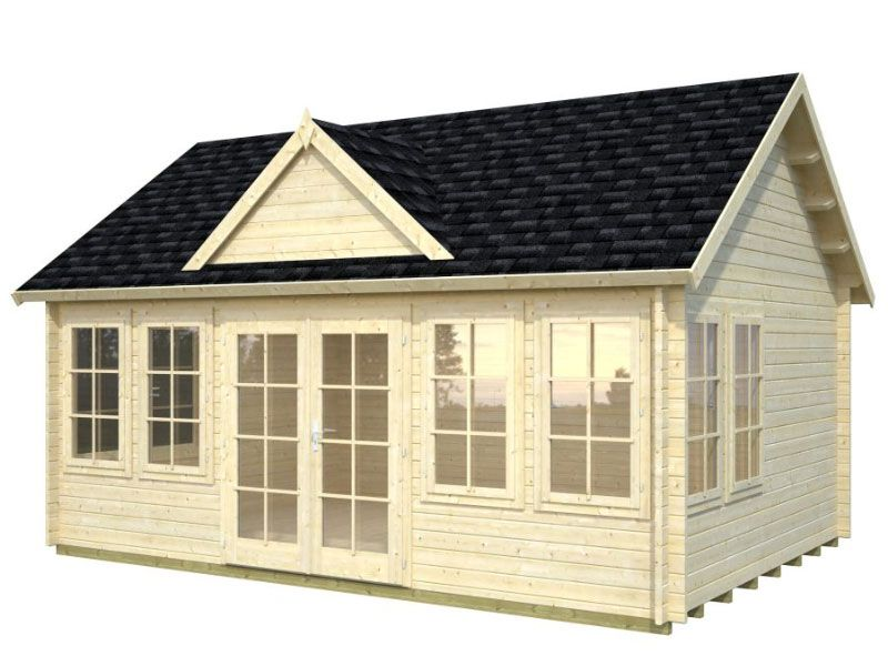 Lakeview Cabin Kit 209 Sq Ft One Room Bzb Cabins Tiny House Kits House Log Cabin Kits
