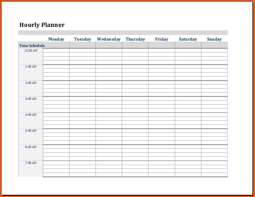word day planner template