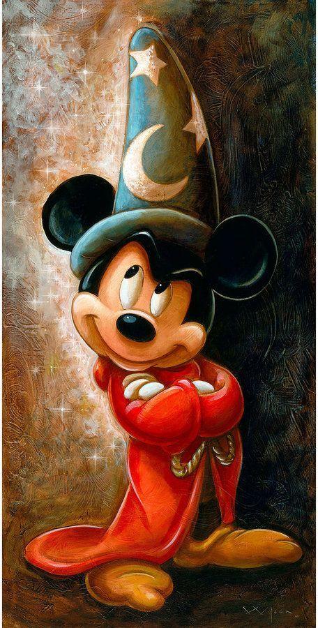 Disney-Zauberer Mickey Mouse Giclée von Darren Wilson - Young Lady Fashion #disneypixar