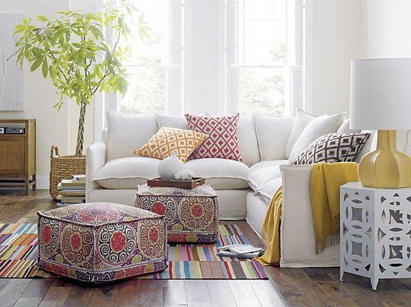 Le gros coussin pour canapé en 40 photos! | Salons, Moroccan design ...