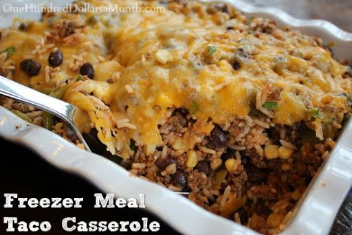 Ground Beef Freezer Meal Taco Casserole Recipe Yummly Recipe Beef Freezer Meals Taco Casserole Freezer Meals
