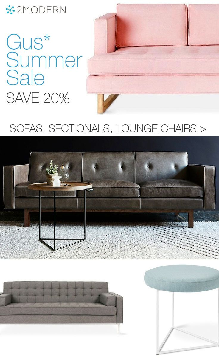 Shop our annual gus summer sale which offers savings of 20 on gus modern sofas sectionals lounge chairs and all other upholstered designs