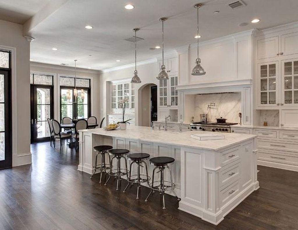 Nice 48 Stunning Luxury White Kitchen Design Ideas White Kitchen Design White Modern Kitchen Modern Kitchen Design