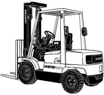 Original Illustrated Factory Workshop Service Manual For Hyster Diesel X2f Lpg Forklift Truck D177 Series Original Factory Manuals Forklift Trucks Spare Parts