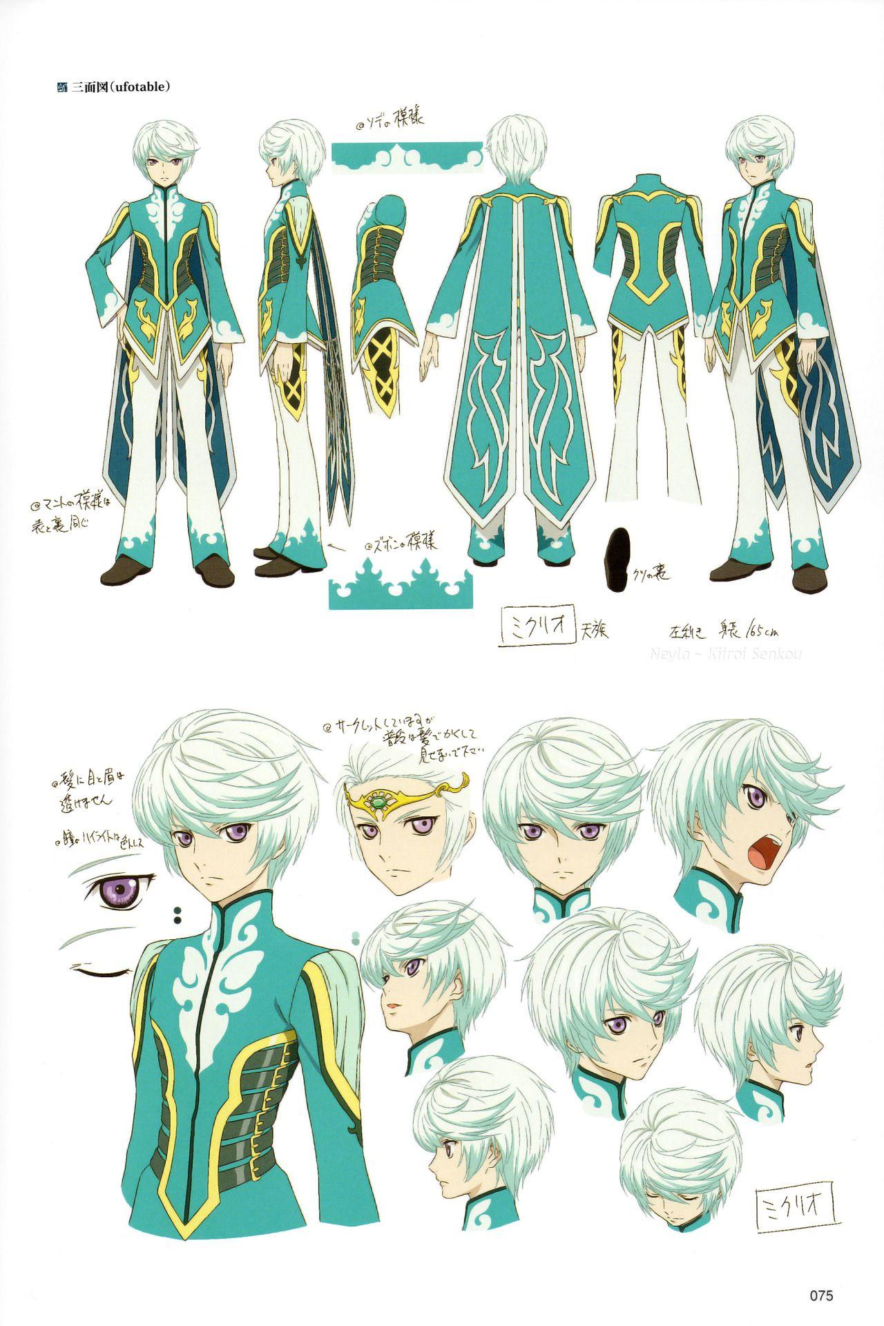 neylakiiroisenkou Anime character design, Tales of