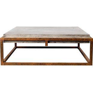 X Frame Concrete Coffee Table | Wayfair