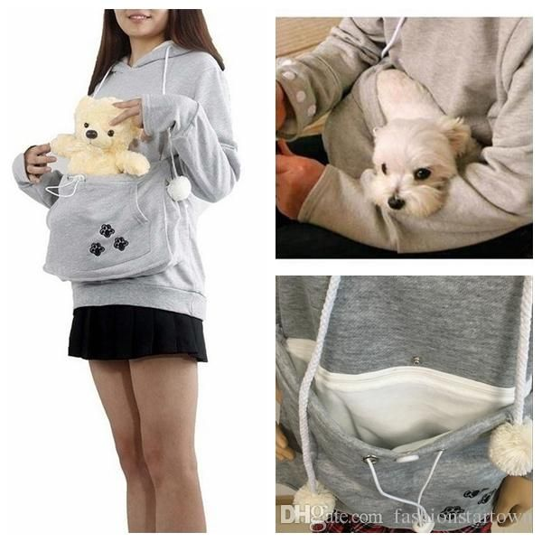 Kangaroo Hoodie Carry Your Pet Everywhere Kangaroo Hoodie For - Hoodie with kangaroo pouch is the perfect cat accessory