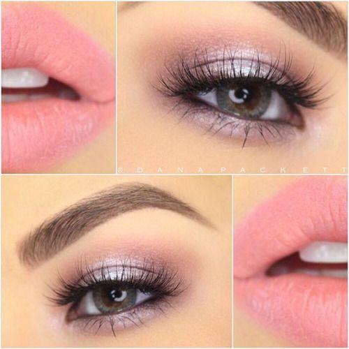 makeup: romatic soft pink + lavender eyes + lips | valentines / feminine / girly look @danapackett
