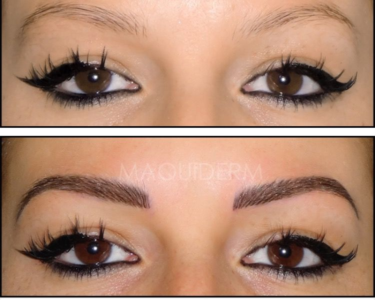 Maquillage semi permanent des sourcils nano technologie - Maquillage permanent sourcil poil poil ...