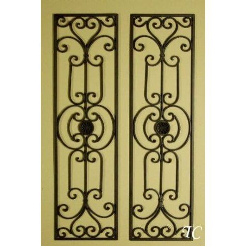 Tuscan Mediterranean Wrought Iron Wall Grille Set of 2 | КОВКА ...