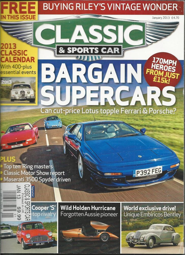 Classic And Sports Car Auto Magazine Bargain Supercars Lotus - Bargain sports cars