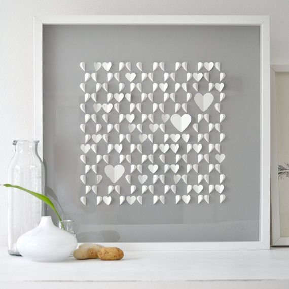 Decoracion facil manualidades cuadros con corazones de - Manualidades con cuadros ...
