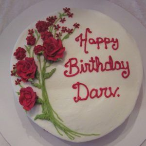 Happy Birthday Wishes With Red Roses Cake
