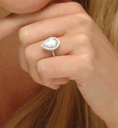 PearShaped Diamond Engagement Ring3 Jewelry Pinterest