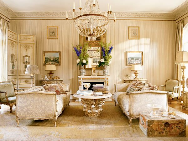 The enchanted home gilded in gold gorgeous living for Living room ideas gold
