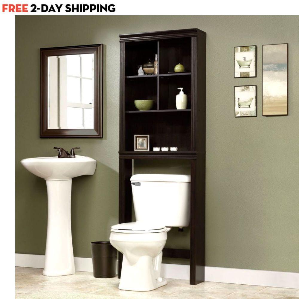 Details about Bathroom Cabinet Over The Toilet Shelves Bath Towels ...
