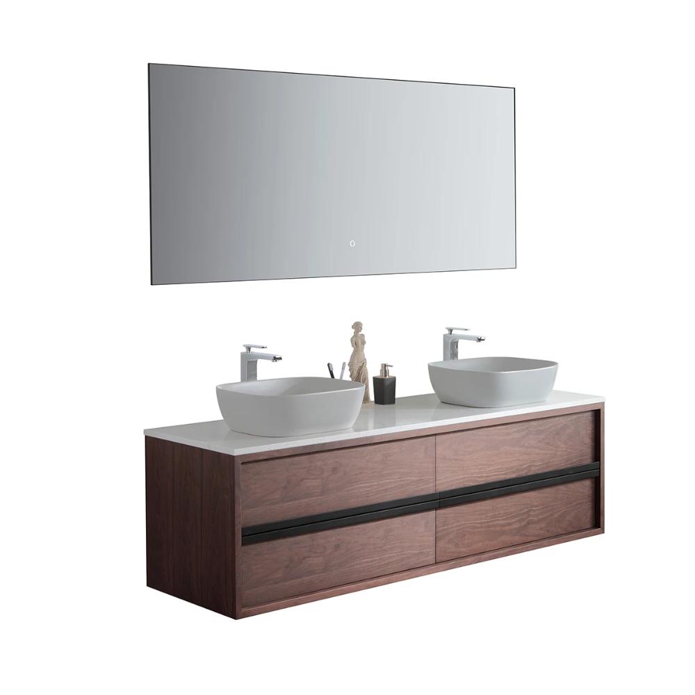 Sintra 55 Dark Walnut Oak Wall Mounted Modern Bathroom Vanity In 2020 Modern Bathroom Vanity Modern Bathroom Vanity