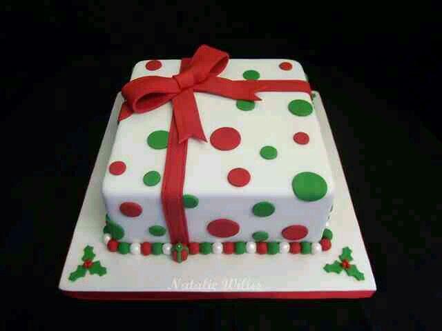 Christmas Big Square Cake In 2019 Christmas Cake