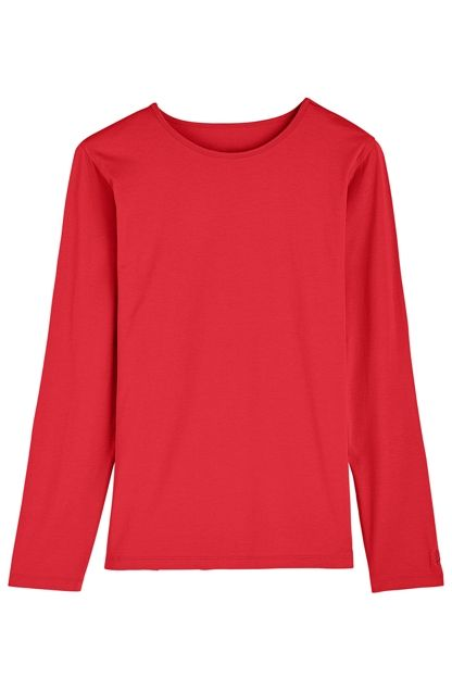 Long Sleeve T-Shirt: Sun Protective Clothing - Coolibar | Summer ...