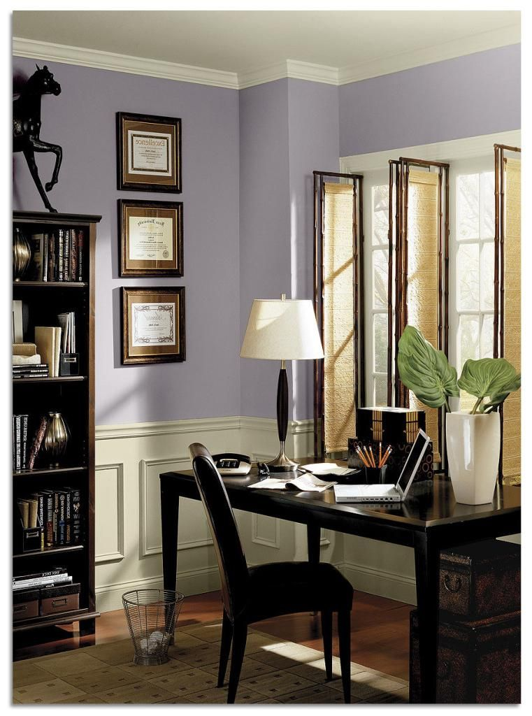 office interior paint color ideas benjamin moore wisteria on best home office paint colors id=76134
