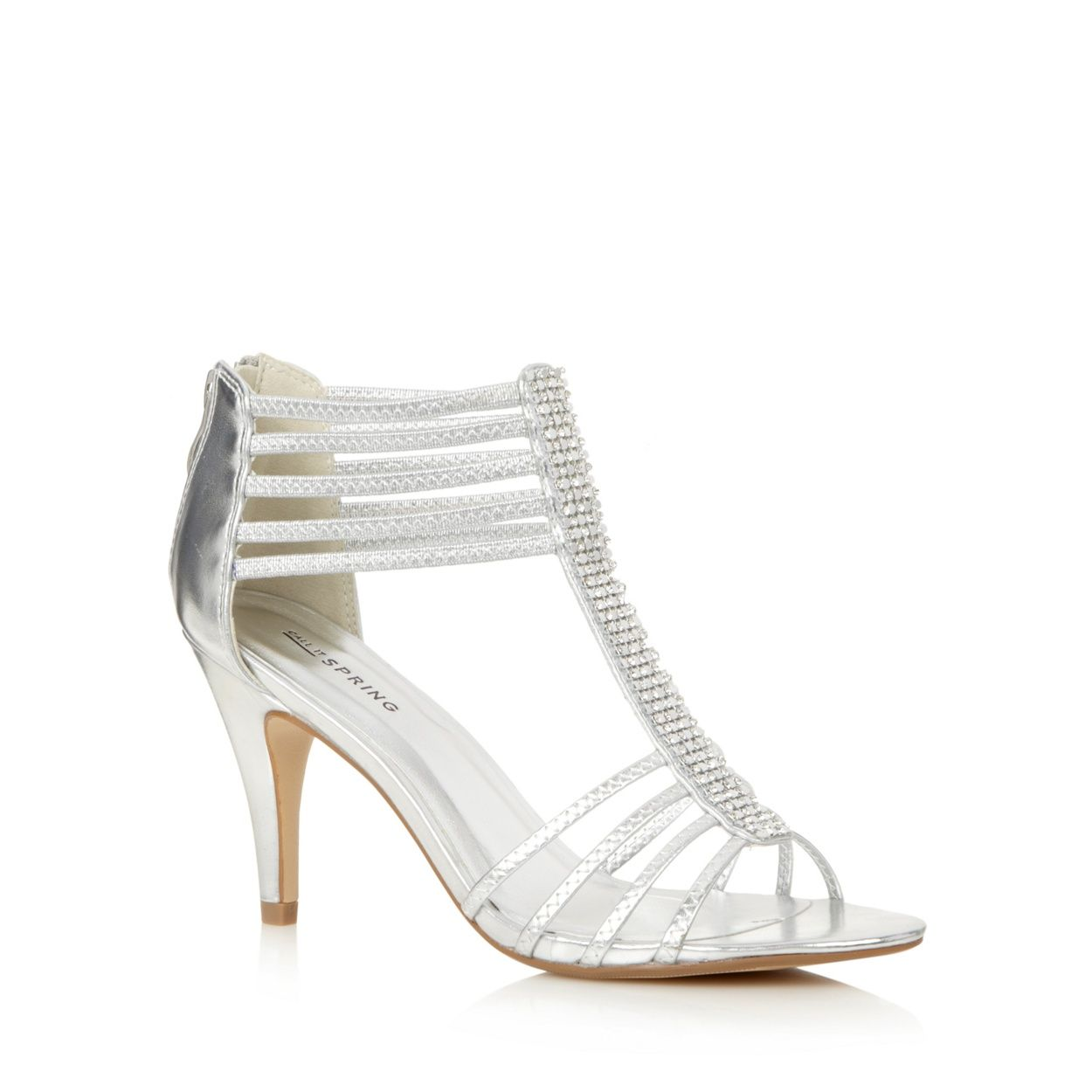 Women's sandals debenhams - Call It Spring Silver Handlesman Strap Heeled Sandals At Debenhams Com