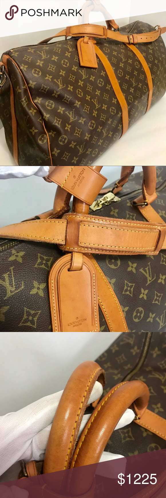 Authentic Louis Vuitton Keepall Bandouliere 60 Bag