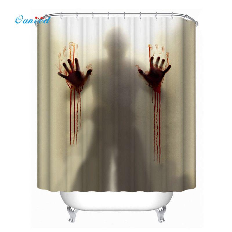 ハッピーホームハロウィンギフト12フックマルチサイズシャワーカーテン浴室防水防カビ防面白いフェスティバルスタイル