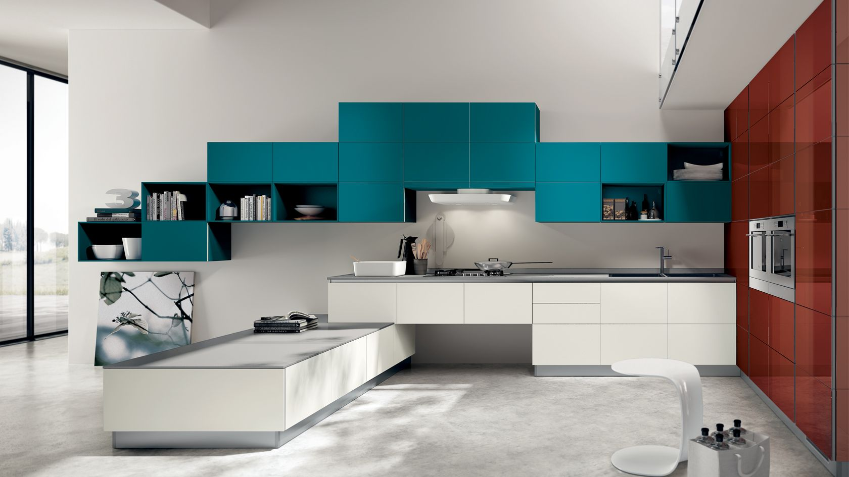 8 Gorgeous Kitchen Designs From The Tetrix Collection By Scavolini