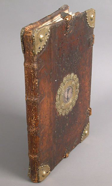 Antiphonary Spanish,tempera,ink and gold on parchment leather binding 15th-16th century
