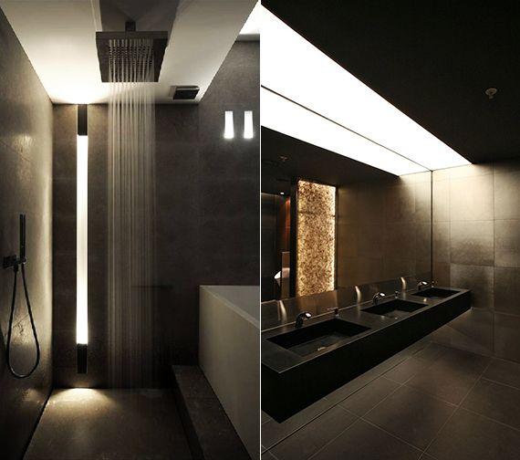 bad modern gestalten mit licht moderne dusche badgestaltung und indirekte beleuchtung. Black Bedroom Furniture Sets. Home Design Ideas