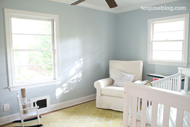 Ten June Nursery Update A Freshly Painted Baby Boy S Room Sherwin Williams Emerald Paint Perfect Light Blue Color