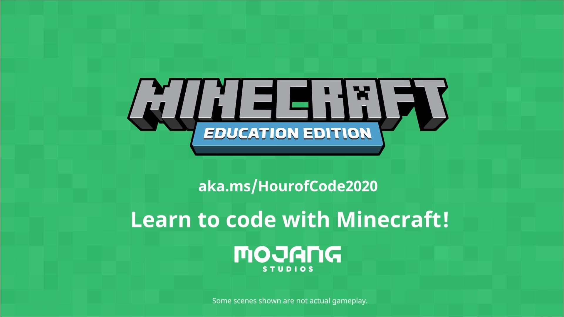 Hour Of Code 2020 Minecraft Education Edition Video Video Coding Minecraft Basic Coding