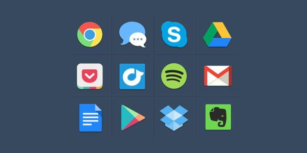 10 Packs D Icons Pour Realiser Des Webdesign En Flat Design Social Media Icone Ressources Graphic