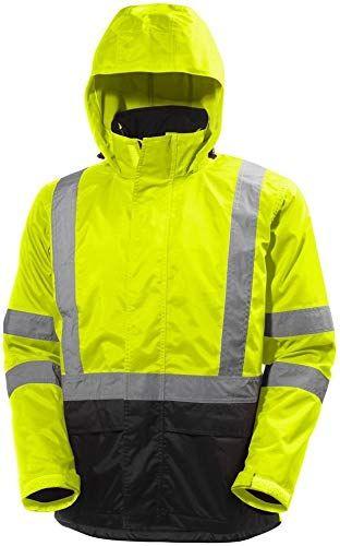 Buy Helly Hansen Work Jacket Mens Alta Waterproof Hi Vis Yellow 71088 online - Allpremiumideas #workoutfitswomen