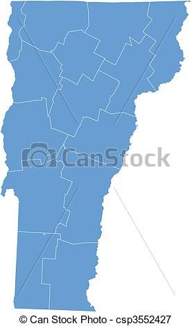 Vector - Vector map Vermont - stock illustration, royalty free ...