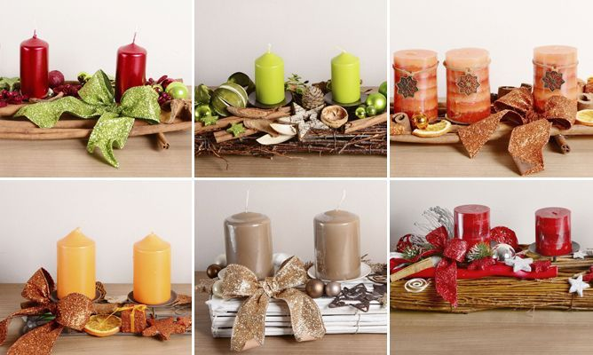Centros de mesa navide os para mesas rectangulares velas - Centros de mesas navidenos ...